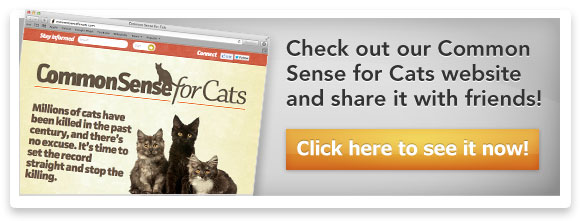 Check out our Common Sense for Cats website and share it with friends! Click here to see it now!