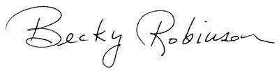 Becky Robinson signature