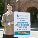 Becky Robinson Delivers Petitions to the Smithsonian